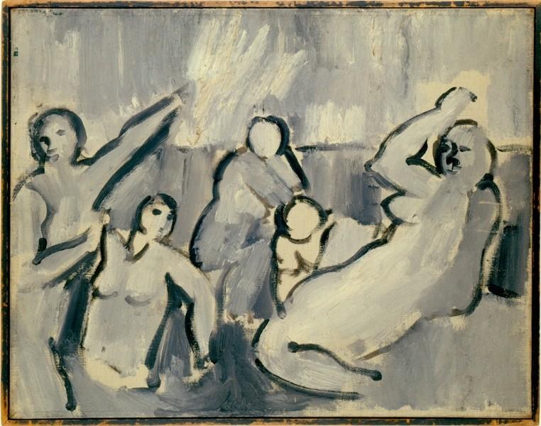 Hans Arp: Komposition I, 1907, Öl auf Leinwand, 40,5 x 50,5 cm