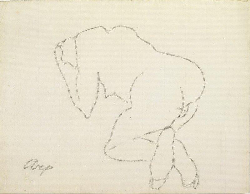 Hans Arp: Akt, um 1907, Bleistift auf Papier, 24,1 x 31,1 cm