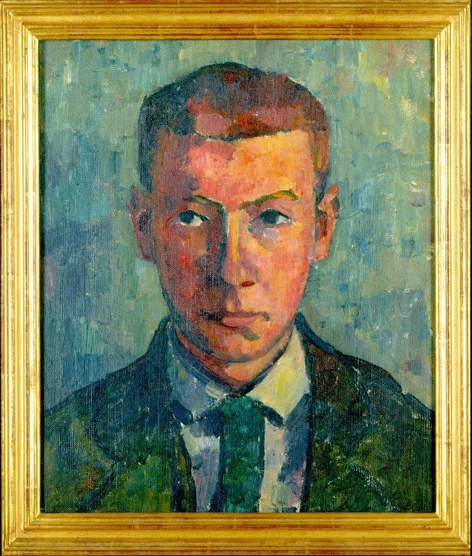 Hans Arp: Selbstbildnis. 1903–1904, Öl auf Leinwand, 38 x 32,2 cm
