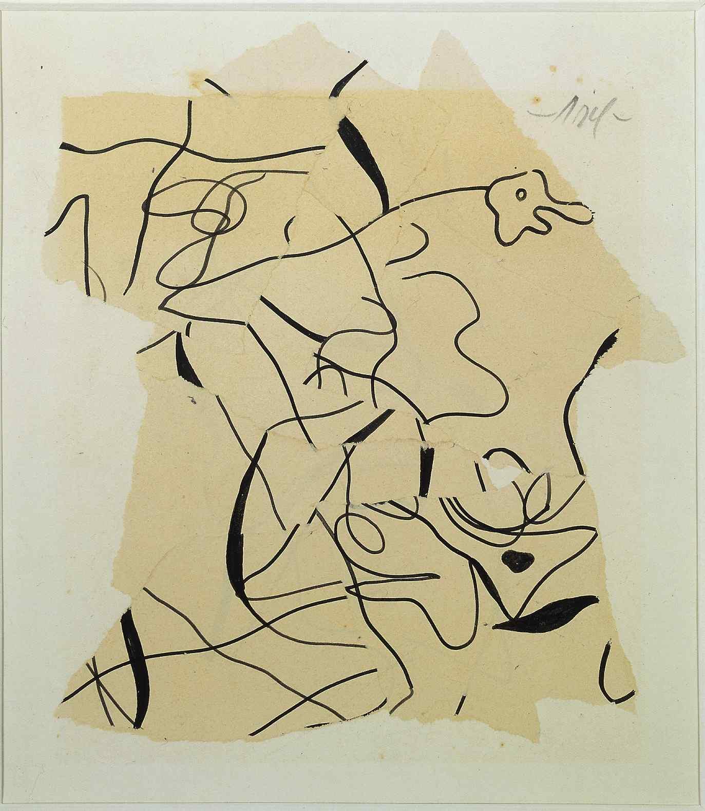 The Careless One, 1934, Papier déchiré, 45.7 x 37.2 cm