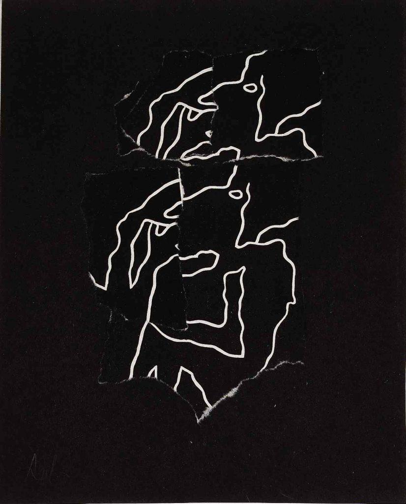 Animal Fable, 1956, Collage, papier déchiré, 27.5 x 22 cm