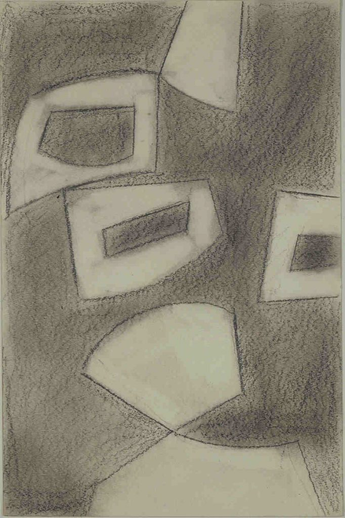 Unesco, 1956, Pencil drawing and wash on paper, 42 x 27.5 cm