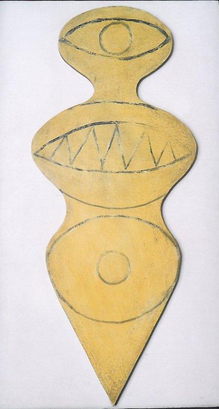 Whirlygig Hero, 1963, Painted wood, 97.3 x 53.3 x 3.3 cm