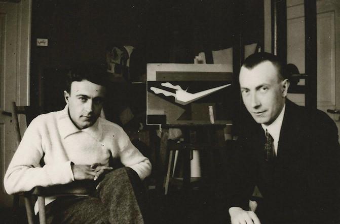 Hans Arp and Otto van Rees, Zurich, c. 1915-1916