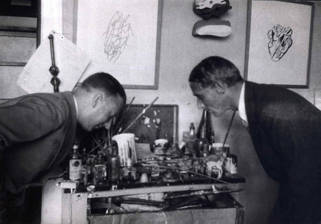 Hans Arp and Max Ernst, Cologne, c. 1928
