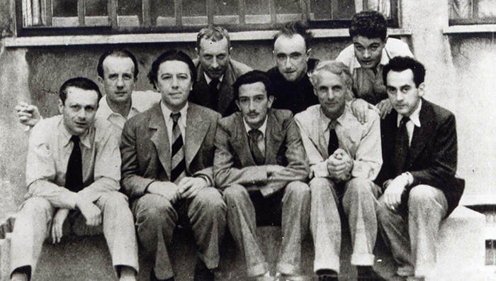 Tristan Tzara, Paul Eluard, André Breton, Hans Arp, Salvador Dali, Yves Tanguy, Max Ernst, Rene Crevel and Man Ray, Paris, 1930