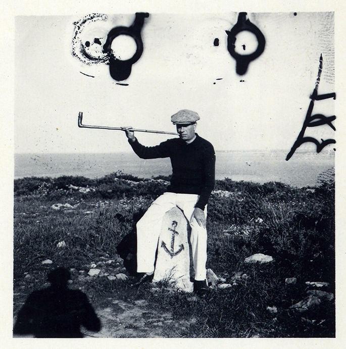 Hans Arp in Brittany, c. 1938
