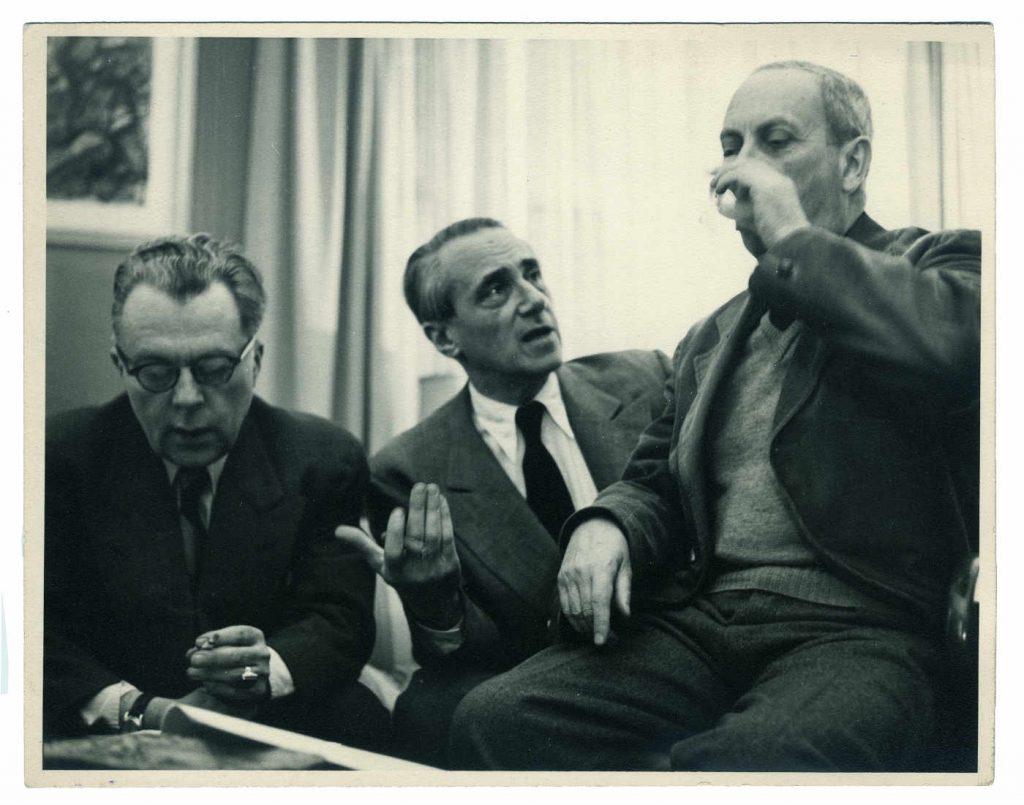 Richard Hülsenbeck, Hans Richter and Hans Arp, New York, 1949 (Photograph: Paul Weller)
