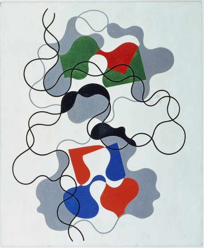 SSophie Taeuber-Arp, Summer Lines, 1942, Oil on board, 46 x 38 cm