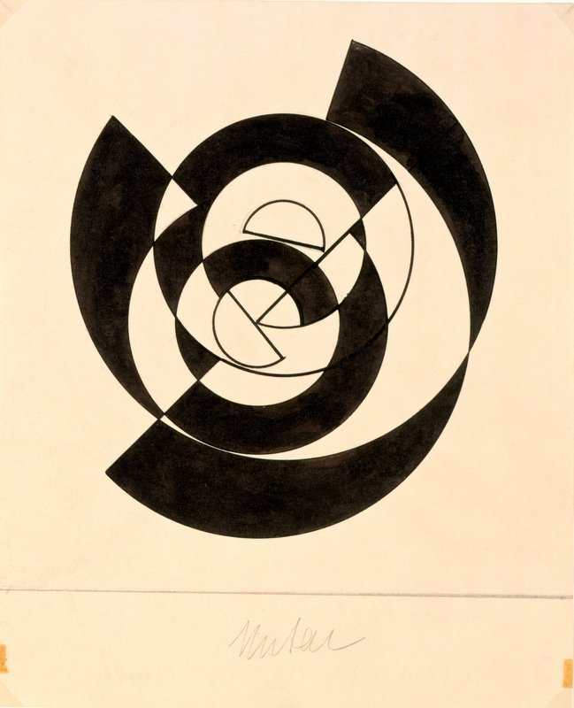 Sophie Taeuber-Arp, Geometric Composition, 1942, Ink on paper, 25.4 x 20.9 cm