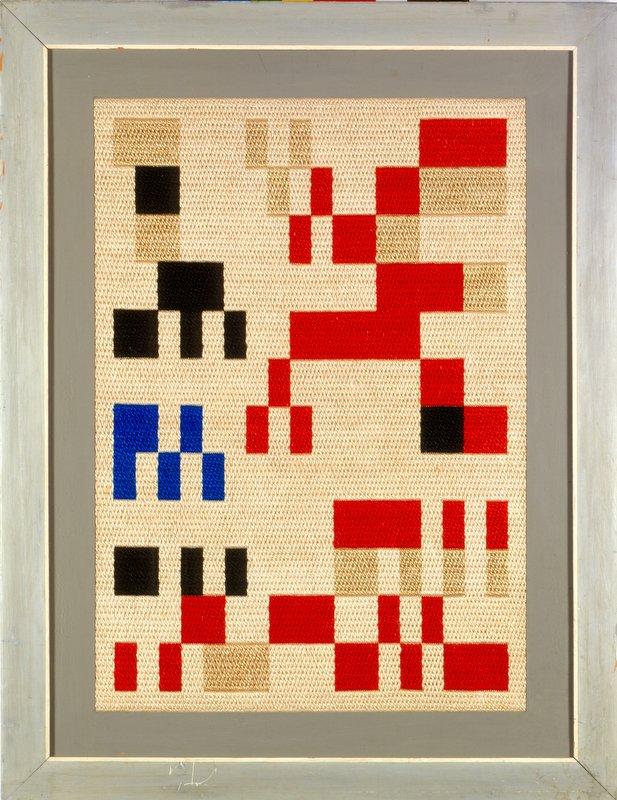 Sophie Taeuber-Arp: Komposition Aubette, 1928. Stickerei, 77,5 x 55,5 cm