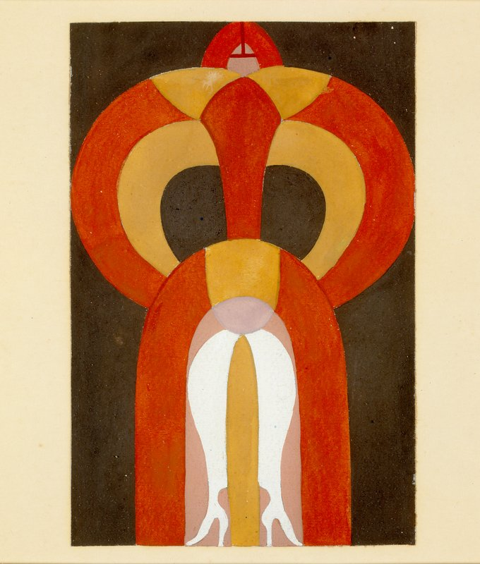 Sophie Taeuber-Arp, Untitled, (Figure: Dancer), c. 1924, Gouache on cardboard, 12 x 8 cm