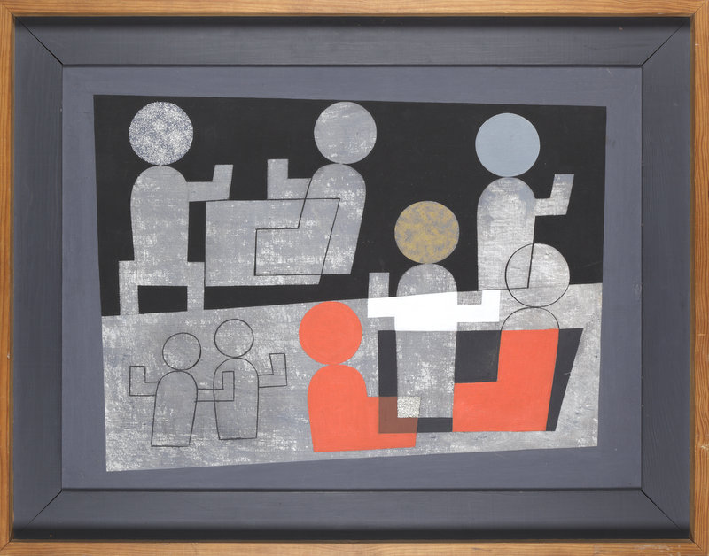 Sophie Taeuber-Arp, Café, 1928, Oil on canvas, 54 x 73 cm