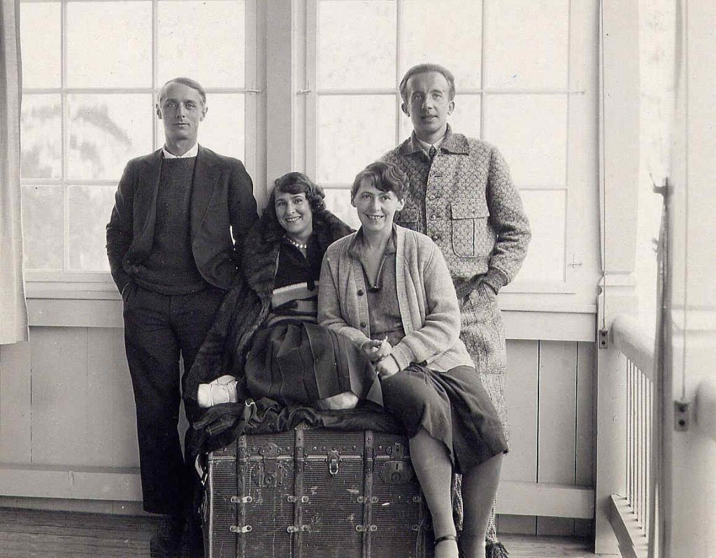 Max Ernst, Gala, Sophie Taeuber-Arp and Paul Eluard in Arosa, 1928